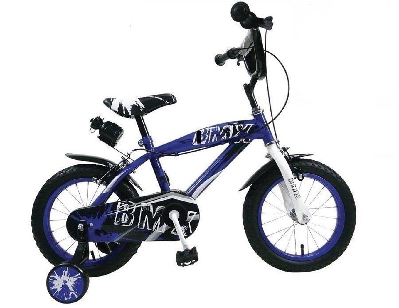 Bici Bicicletta BMX per Bambino Misura 12  con ROTELLE Colorei A Scelta 2-4 Anni