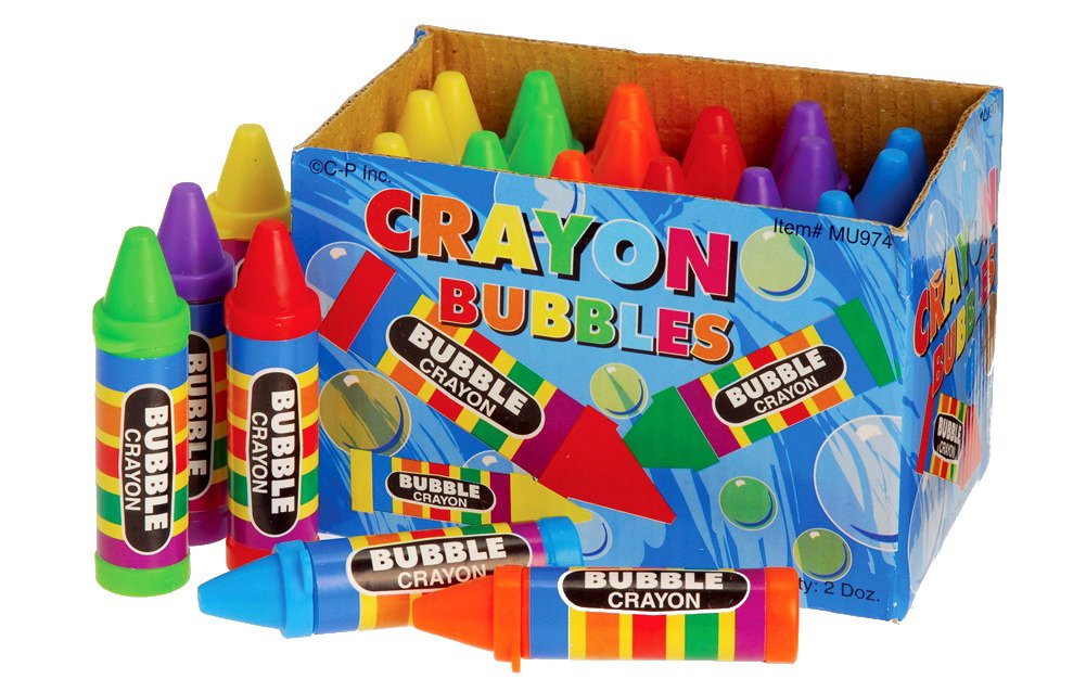 Crayon Bubbles, 24 Count