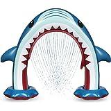 Anpro Upgraded Giant Shark Sprinkler for Kids Inflatable Water Toys Summer Outdoor Play Sprinkler for Boys Girls Children