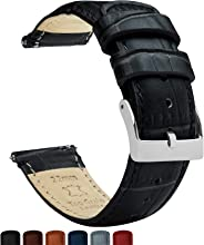 Barton Alligator Grain - Quick Release Leather Watch Bands - Choose Color - 16mm, 18mm, 20mm, 22mm, or 24mm
