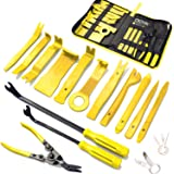 19Pcs Trim Removal Tool,Car Panel Door Audio Trim Removal Tool Kit, Auto Clip Pliers Fastener Remover Pry Tool Set with Stora