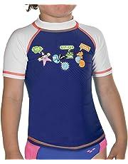 Arena 000433_4-5 Camiseta de Manga Corta con protección Solar, Unisex niños, Navy