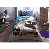 Kung Fu Panda 3 Movie Po the Panda Licensed Bedding Set Duvet Cover Set Single Twin Size 3 pcs