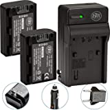 Pack Of 2 NP-FH50 Batteries + Battery Charger For Sony Alpha DSLR A230 DSLR A290 DSLR A330 DSLR A380 DSLR A390 Digital SLR Ca