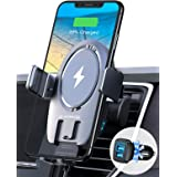 [Upgraded] VANMASS 15W Wireless Car Charger Mount Auto Clamping, Thermostatic Fast Charging, Air Vent Holder Charger for iPho