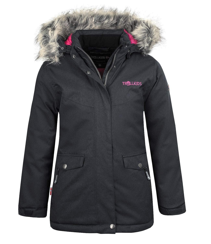 Anthrazit   Magenta 152 cm TrollEnfants Oslo XT Manteau d'hiver imperméable pour Fille