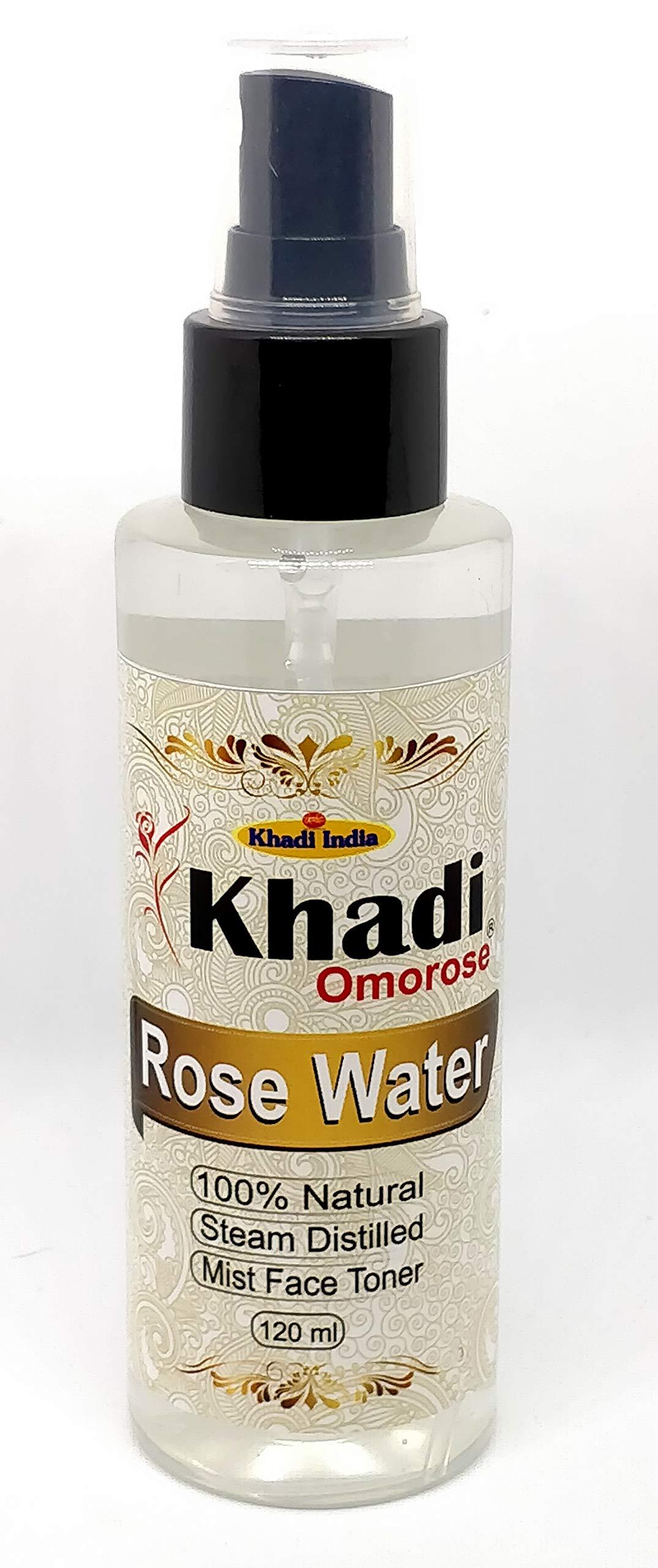 KHADI Omorose Rose Water Natural Derived From Steam Distillation Roses Petals product image