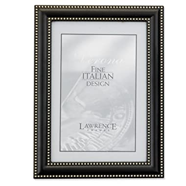 Lawrence Frames 5 by 7 Metal Picture Frame Oil Rubbed Bronze with Delicate Beading