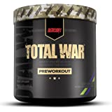Redcon1 Total War - Pre Workout Powder, 30 Servings, (Sour Gummy) Boost Energy, Increase Endurance and Focus, Beta-Alanine, 3