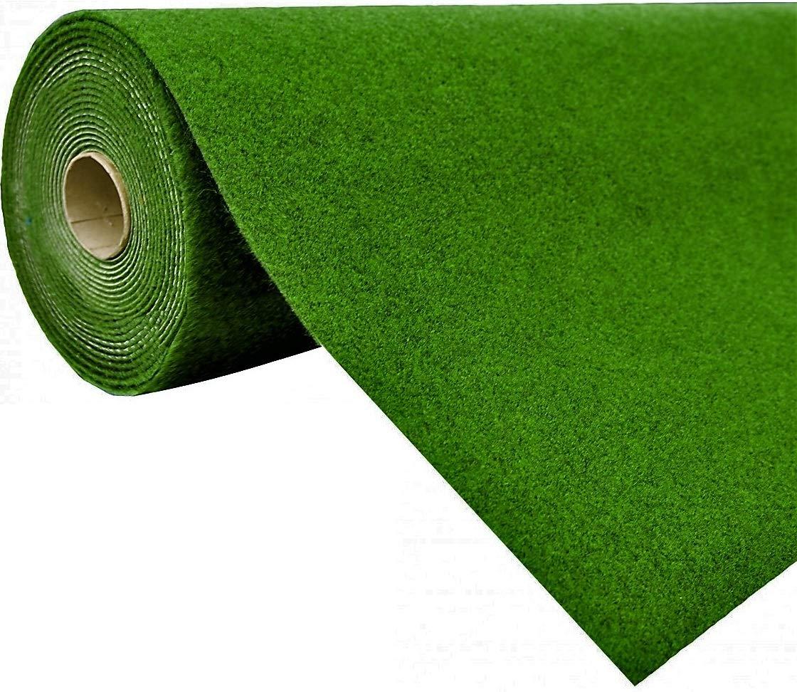 Havatex Rasenteppich Kunstrasen mit Noppen   Höhe  5,5 mm   Gewicht  1.150 g m² - schadstoffgeprüft wasserdurchllässig strapazierfähig   Balkon Terrasse Camping, Farbe Grün, Größe 400 x 500 cm