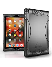 Armera iPad 9.7 2018 2017 Case - [Wave Bumper Series] Light Weight Anti Slip Kids Friendly Shock Proof Silicone Protective Cover for iPad 6th / 5th Gen, Black