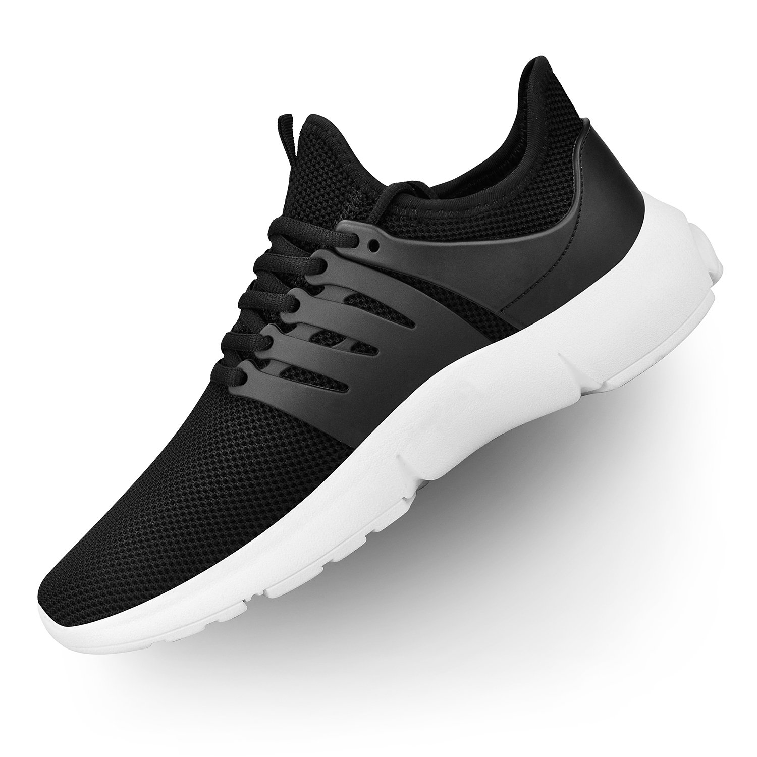 Troadlop Womens Running Sneakers Ultra Lightweight Breathable Mesh Walking Athletic Shoes(Size 5.5-13 US) B07D3XBKZF 8 M US|Black/White