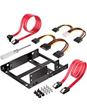 Inateck SSD Mounting Bracket 2.5 to 3.5, SSD Mounting Kit with SATA Cable and Power Cable, ST1002S