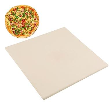 Waykea 12  x 12  Pizza Stone Square Baking Stone | Premium Cordierite Pizza Grilling Stone for Grill Oven RV Oven | Bake Homemade Golden Crispy Crust Pizza