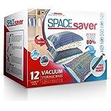 Spacesaver Premium Vacuum Storage Bags (3 x Small, 3 x Medium, 3 x Large, 3 x Jumbo) (80% More Storage Than Leading Brands) F