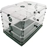 "EarlyGrow 95457 24"" x 15"" x 16.75"" Domed Propagator, Green, 3 Side Extenders and Locking Clip Set"