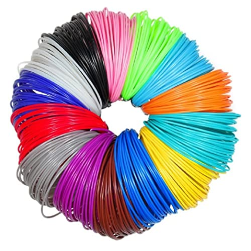 Imagery3D (20 in 1) 20 Colors, 5M Each Total 100M, 4 X Glow in The Dark, 1.75mm PLA Filaments