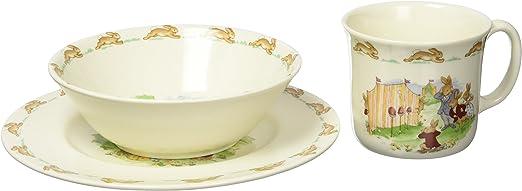 Amazon.com | Royal Doulton Bunnykins Childrens Plate, Cereal Bowl and 1 Handled Hug-a-Mug 3-Piece Childresns Dining Set, Multicolor: Baby Dinnerware Sets: Coffee Cups & Mugs