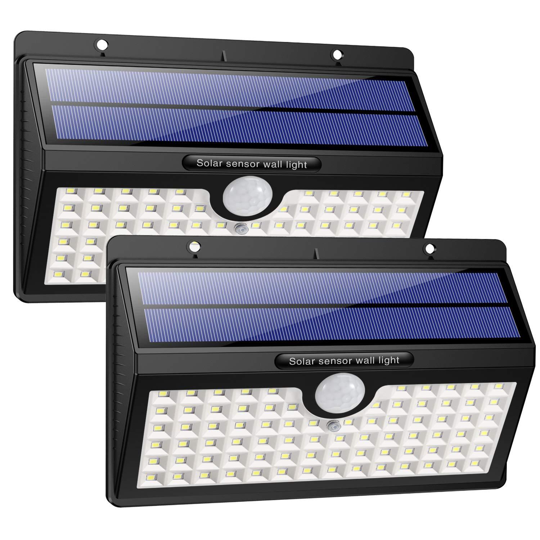 HETP Lampe Solaire Extérieur  Version à économie D énergie  2 Pack 78 led  2000mAh Détecteur de Mouvement éclairage Solaire Extérieur étanche Sans Fil  Spot ... 43cbc5214d6e