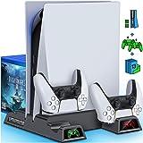 BEBONCOOL Suporte de resfriamento PS5 para console PlayStation 5, suporte PS5 com ventilador de refrigeração e carregadores d