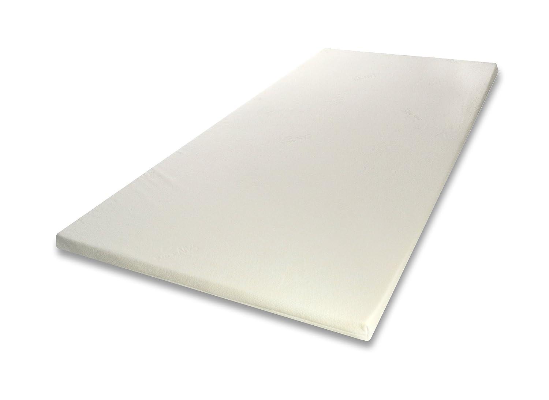 SW Bedding Viscoelastische Auflage Memory Topper Matratzenauflage 5cm Maß  200x180cm H2 medium Cashmere