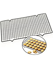 CUHAWUDBA 1 Pieza de Estante de enfriamiento Antiadherente de Acero Carbono Rejilla de enfriamiento Bandeja de