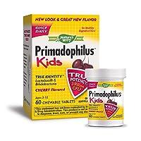 Nature's Way Primadophilus Kids Once Daily 3 Billion Probiotic, 60 Chewables, Cherry...
