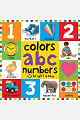 Big Board Books Colors, ABC, Numbers (First 100) (English Edition) Edición Kindle