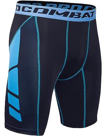 Hivexagon Pantalones Cortos de Compresión de Media Pierna para Deportes e24288d2296d8