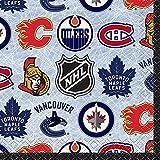 Unique 59381 NHL Hockey Beverage Napkins, 16 Count