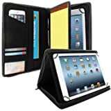 KHOMO Universal Tablet Padfolio Zippered Case for 8.5'' up to 11'' tablets - Carbon Fiber - Compatible with iPad Air, Pro 11