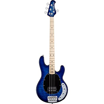 sterling by music man ray34 stingray bass quilted maple neptune blue musical. Black Bedroom Furniture Sets. Home Design Ideas