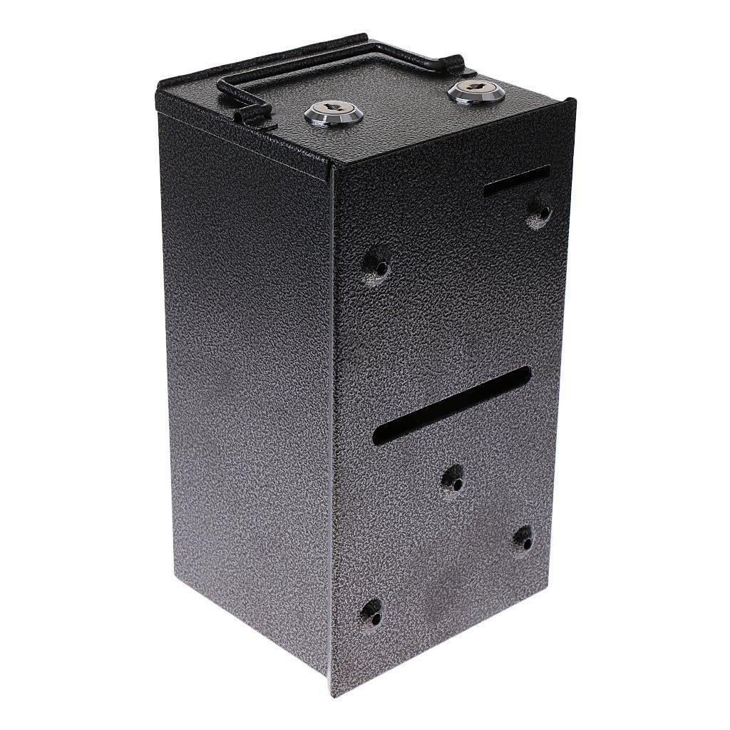 KESOTO Mini Spartresor Sparbüchse Metalltresor mit 2 Zylinderschlössern