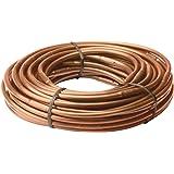 "Rain Bird ET256-50S Drip Irrigation Pressure Compensating 1/4"" Emitter Tubing, 6"" Emitter Spacing, 50 Roll, Brown"