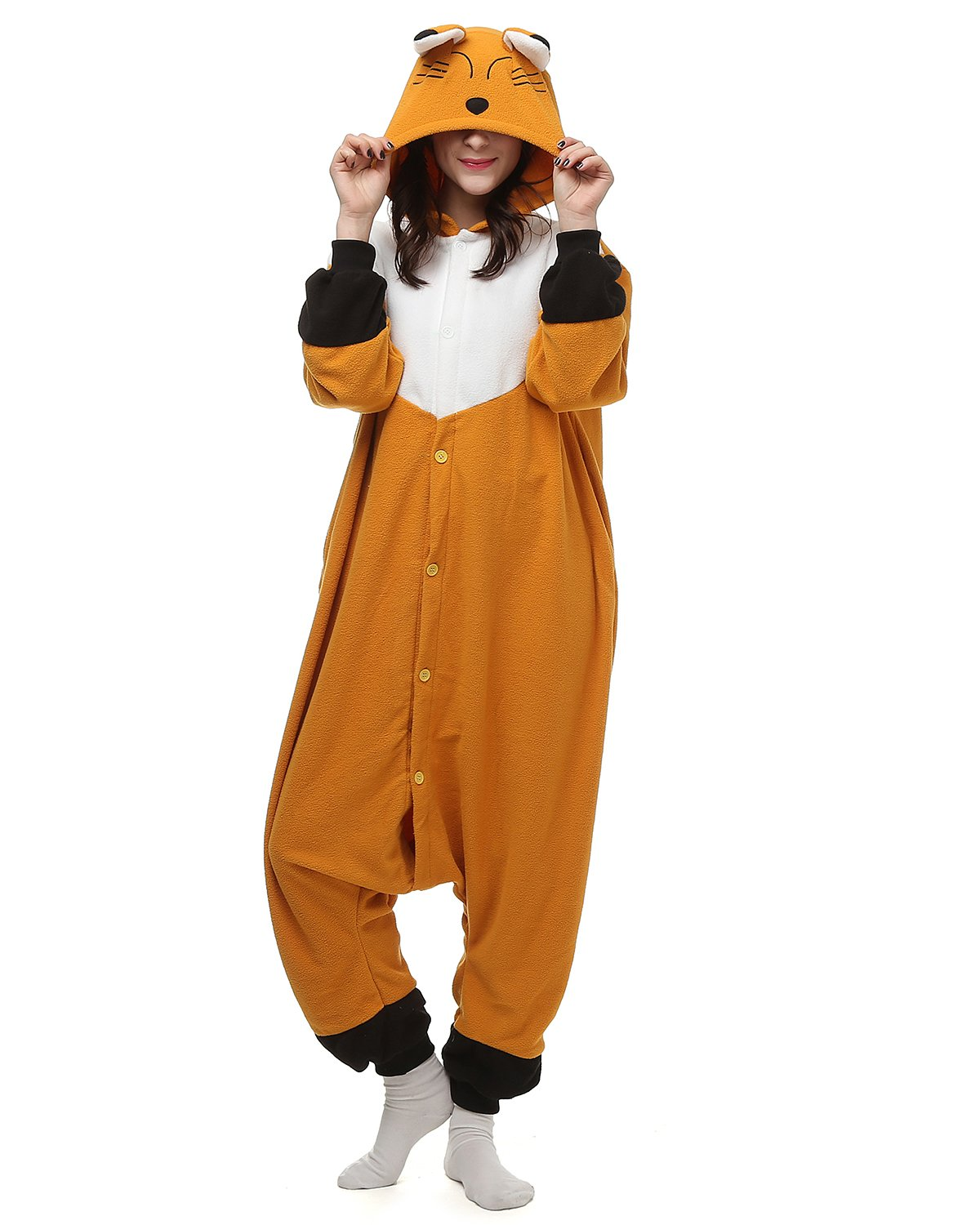 hotu oneises women mens animal fox onesie halloween costume pamamas partywear