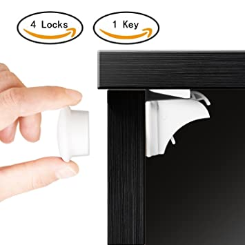 baby proofing magnetic cabinet lock set sherry child safety locks kids toddler proof hidden cupboard drawer kitchen locking shelf clips for adults f