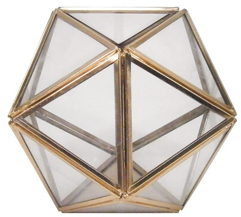 Small Geometric Terrarium - Gold - Threshold™ : Target