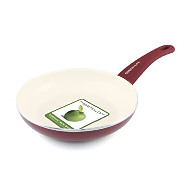 GreenLife Soft Grip 8  Ceramic Non-Stick Open Frypan, Burgundy