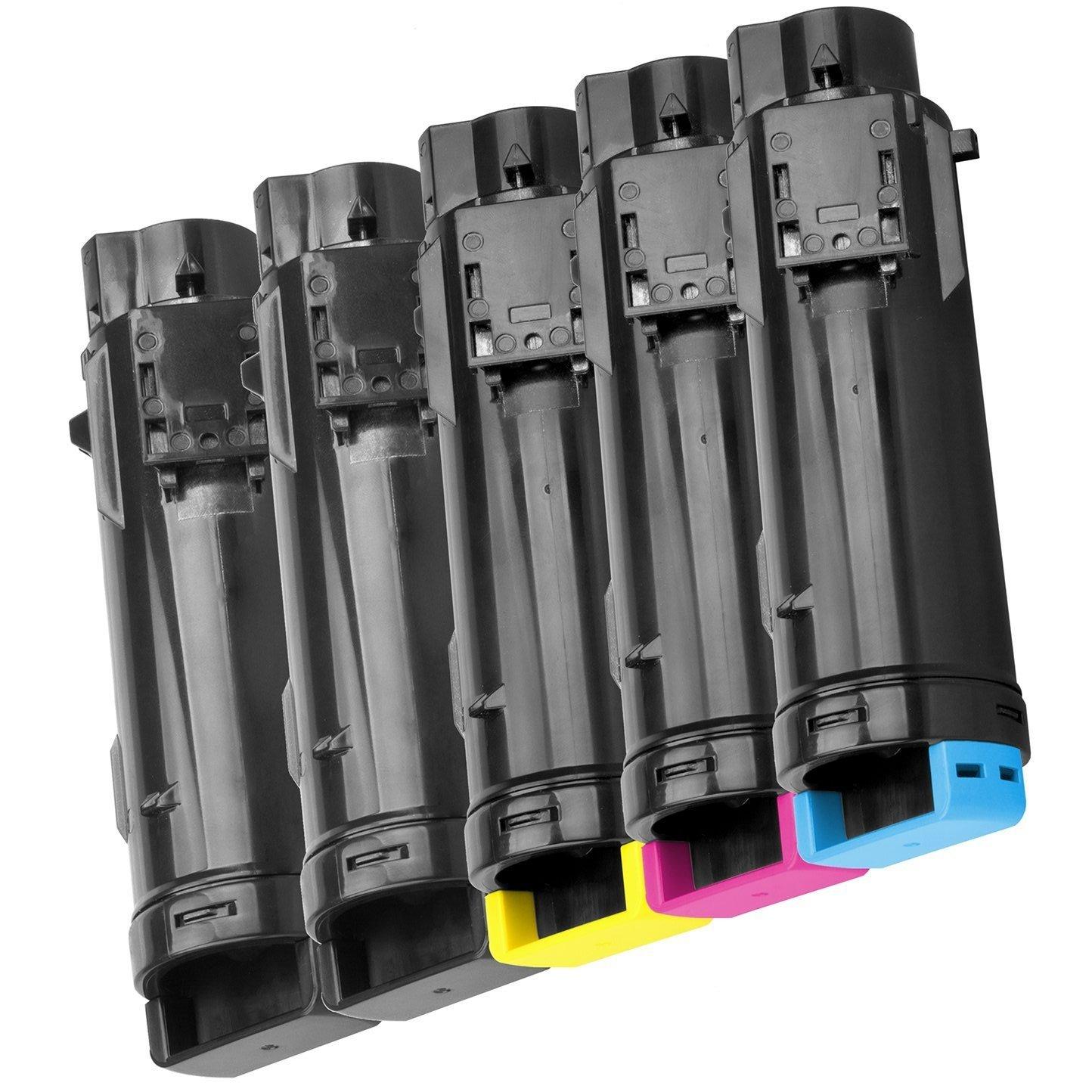 2 Compatibles Cartuchos de tóner para DELL DELL para H625cdw, H825cdw, S2825cdn - Negro, Alta Capacidad 5e1539