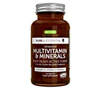 Pure & Essential Methylated Multivitamin & Minerals with Iron, Methylfolate, Zinc, Vitamin D3 & K2, Timed Release, Vegan, 60 Tablets