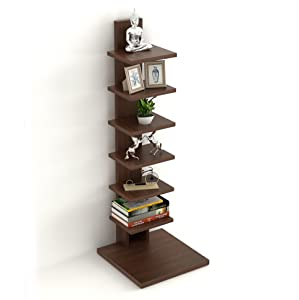 Bluewud Osvil Floor Standing Book Shelf Rack/Display Case