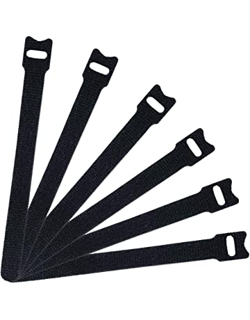 d0d1b74399a9 Attmu 50 PCS Reusable Fastening Cable Ties, Microfiber Cloth 6-Inch Hook  and Loop