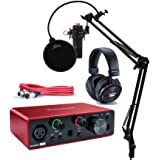 Focusrite Scarlett Solo Studio 3rd Gen USB Audio Interface and Recording Bundle with Microphone, Headphones, XLR Cable, Knox