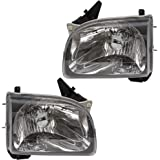 Halogen Headlights Headlamps Pair Set Replacement for 01-04 Toyota Tacoma Pickup Truck 81150-04110 81110-04110