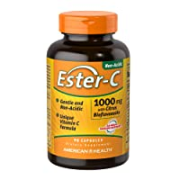 American Health Ester-C with Citrus Bioflavonoids Capsules- 24-Hour Immune Support...