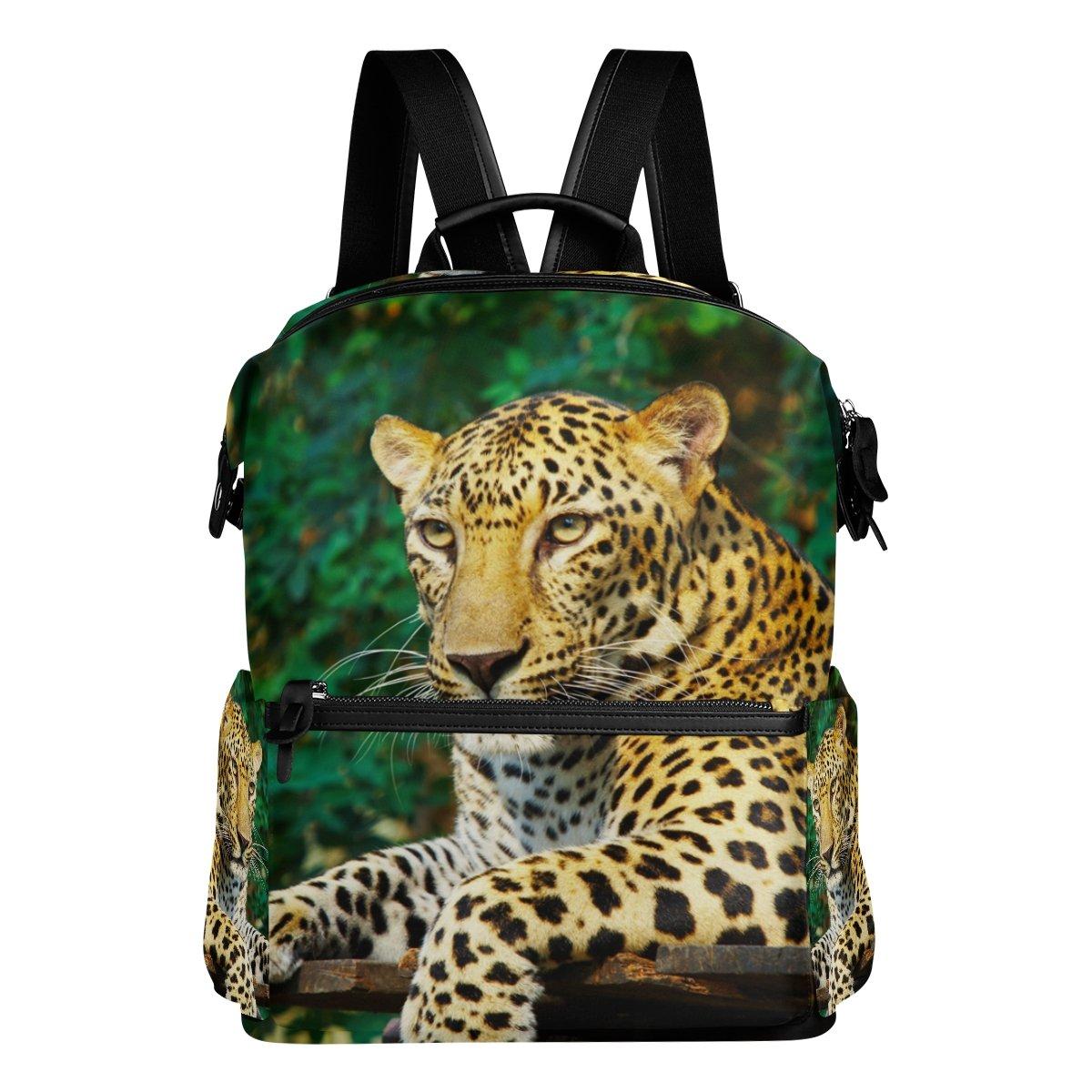 COOSUN Leopard nello zaino zaino da viaggio Forest School Multi
