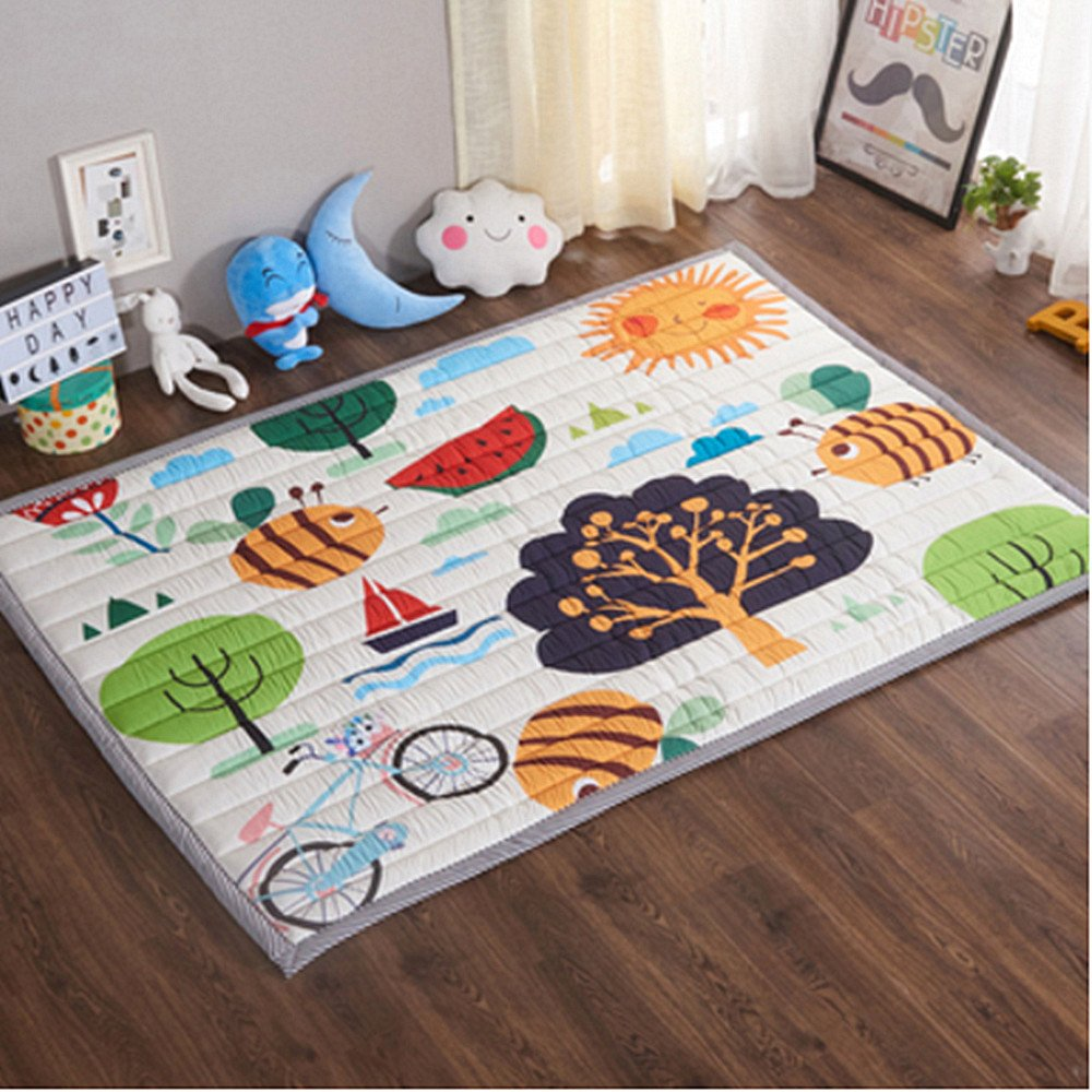 Happy Forest Ustide Baby Play Mat bluee Starry Sky Cotton Carpet For Living Room Skin Friendly Crawling Mat