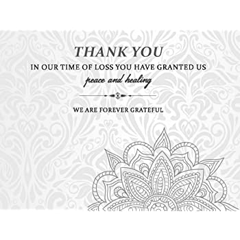 celebration of life funeral thank you cards with envelopes sympathy condolence acknowledgement thank you cards white - Condolence Thank You Cards