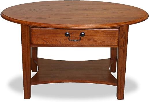 Amazon Com Leick Favorite Finds Oval Coffee Table Medium Oak