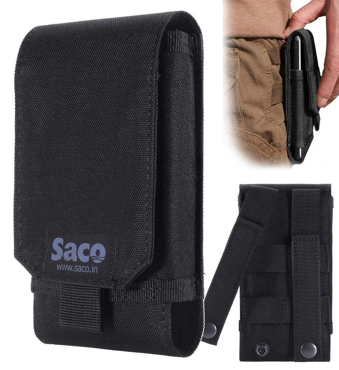 Saco Belt Waist Packs Pouch Holster Cover Case for Mobile Phone (Size L) Sports Fitness & Outdoors Running Jogging product image